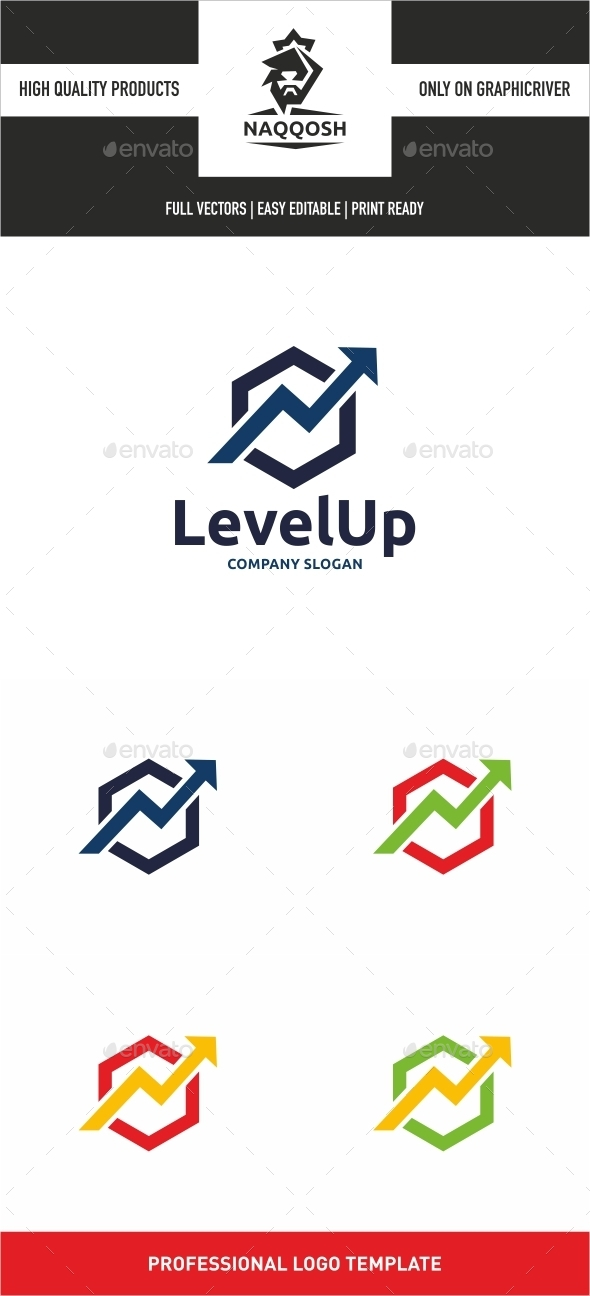 Level Up - Symbols Logo Templates