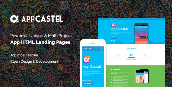 AppCastle - Bootstrap 3 App Landing HTML Template - Landing Pages Marketing