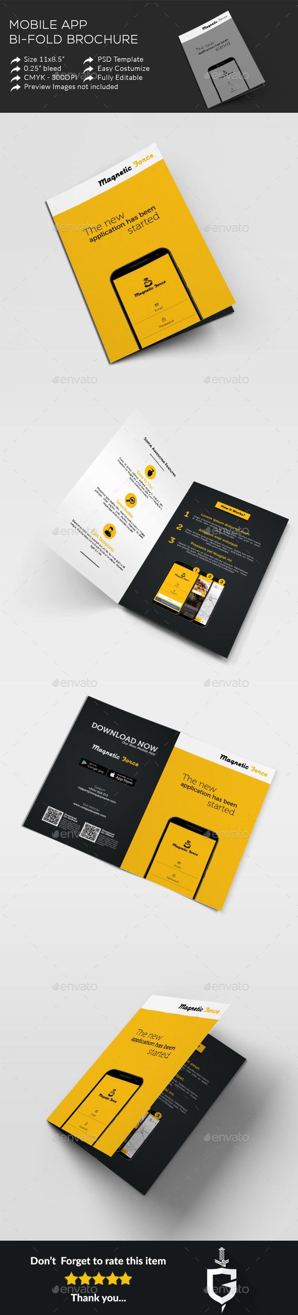 Mobile App Bi-fold Brochure - Corporate Brochures