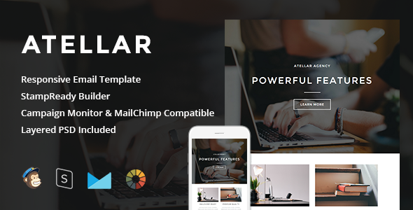Atellar - Responsive Email + StampReady Builder - Newsletters Email Templates
