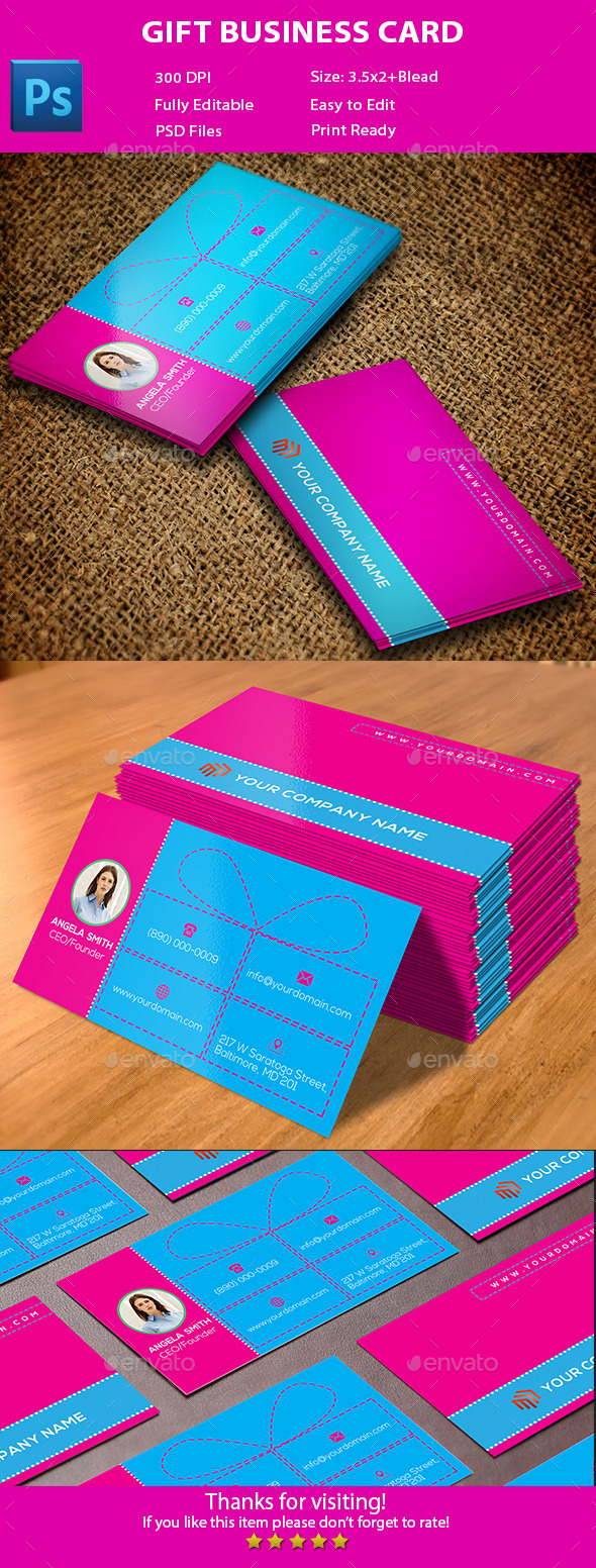 Gift Business Card - Creative Business Cards