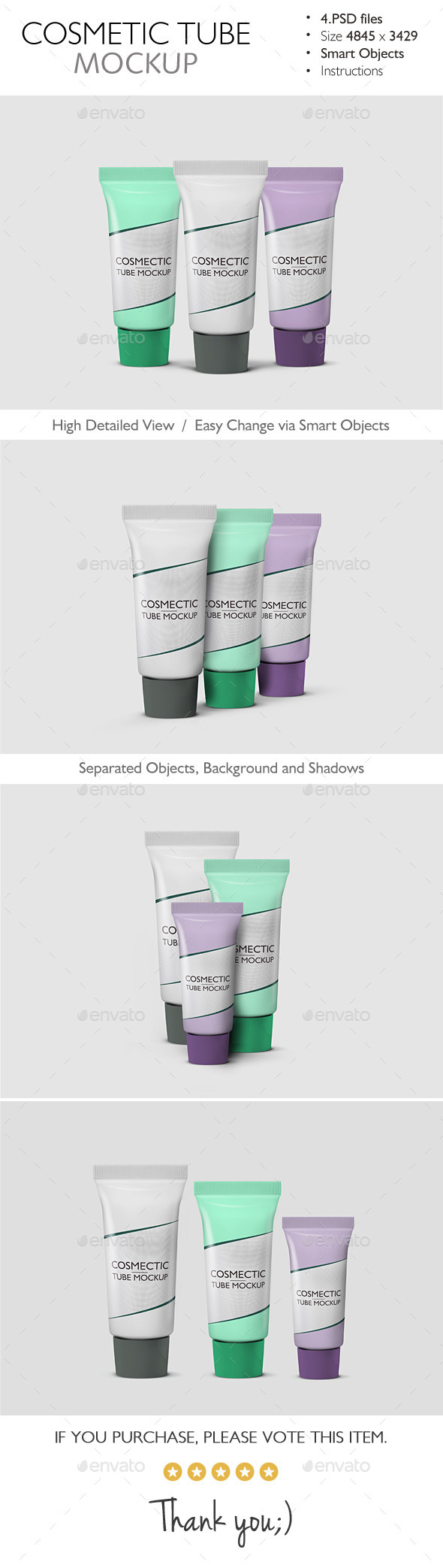 Cosmetic Tube Mockup - Beauty Packaging