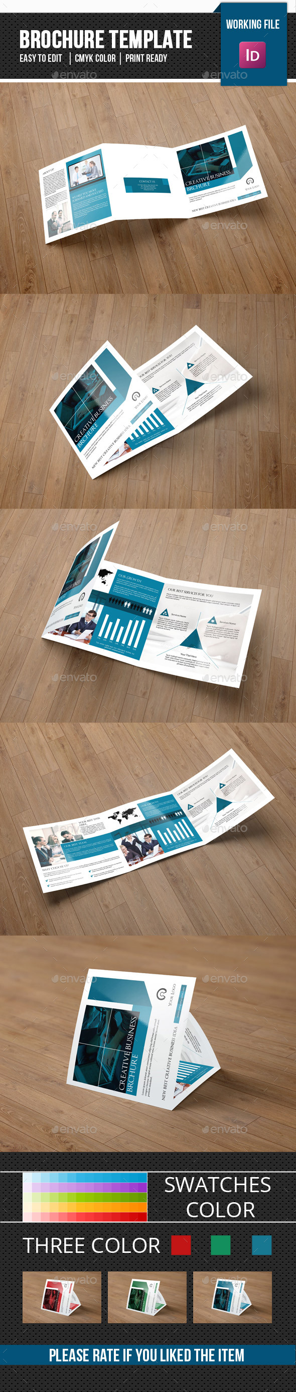 Corporate Square Trifold Brochure-V73 - Corporate Brochures