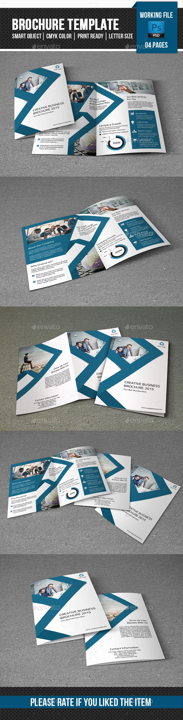 Corporate Bifold Brochure-V299