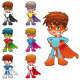 Young superheroes. - GraphicRiver Item for Sale