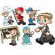 Types of Workers. - GraphicRiver Item for Sale