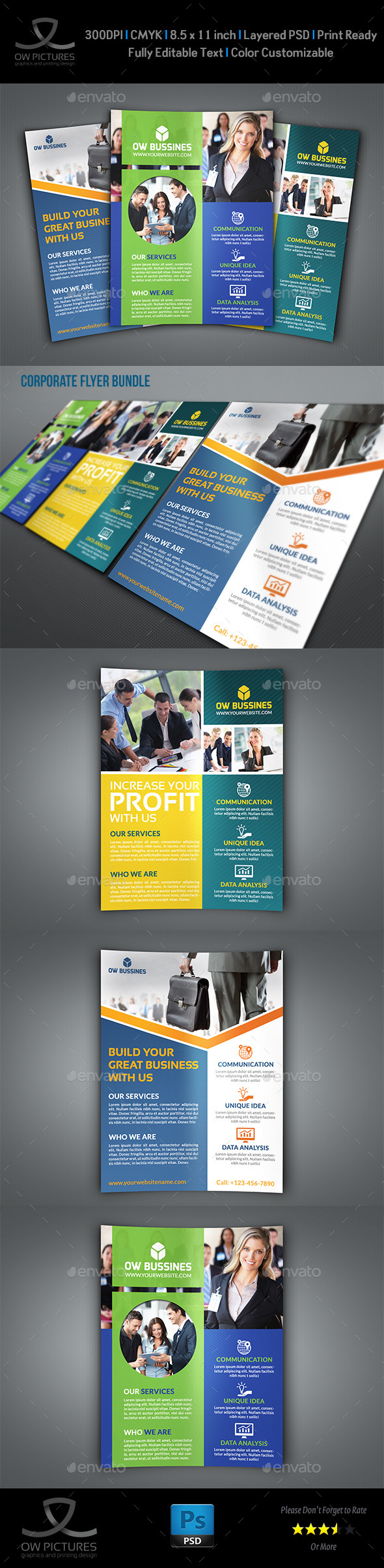 Corporate Flyer Bundle Template Vol.5 - Flyers Print Templates