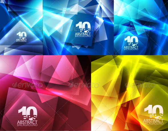 Abstract glowing squares background - Abstract Conceptual