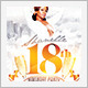 White and Gold Anniversary Birthday Party - GraphicRiver Item for Sale