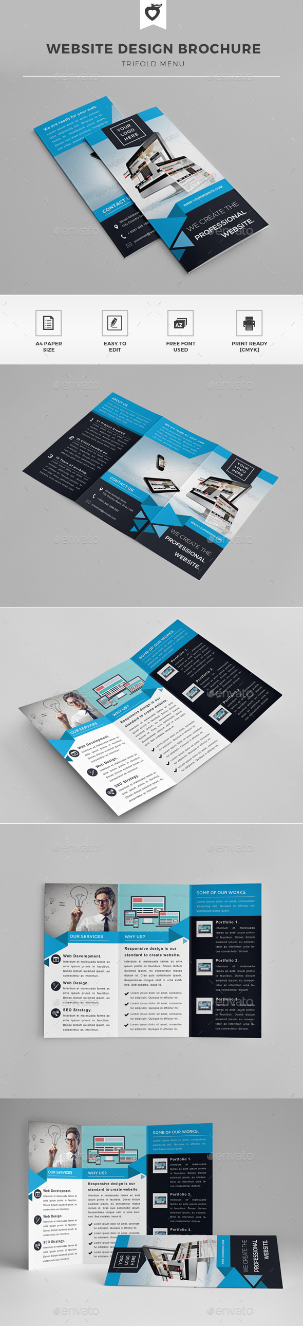 Website Design Trifold Brochure - Informational Brochures