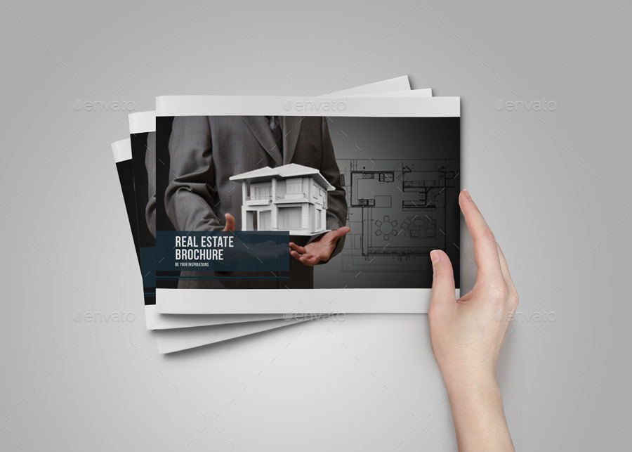 Real estate brochure catalog by alhaytar graphicriver for Real estate prospectus template
