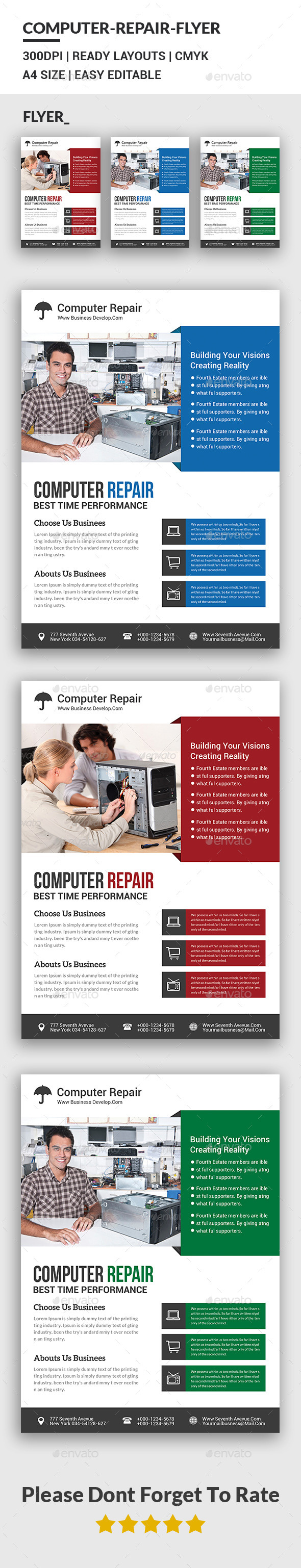Computer Repair Flyer Template - Corporate Flyers