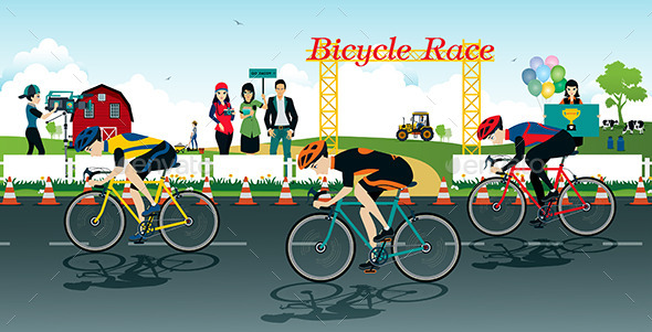 Bicycle Race - Sports/Activity Conceptual