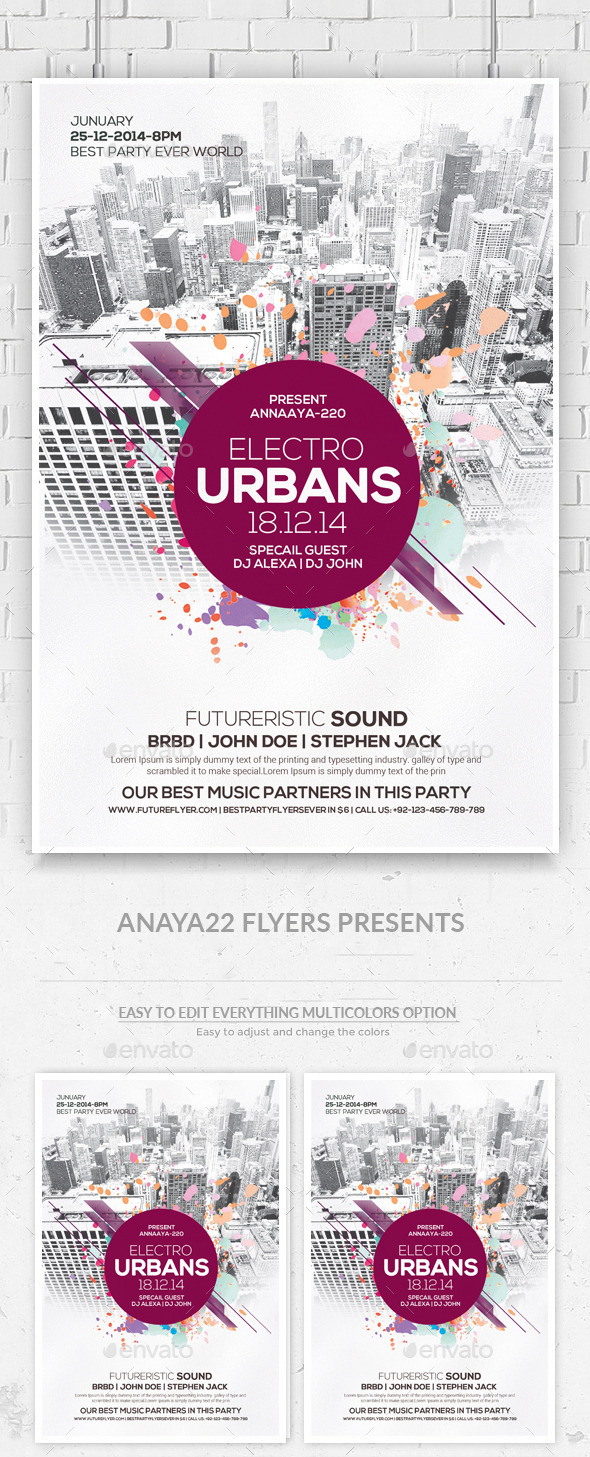 City Concert - Flyer / Poster - Clubs & Parties Events