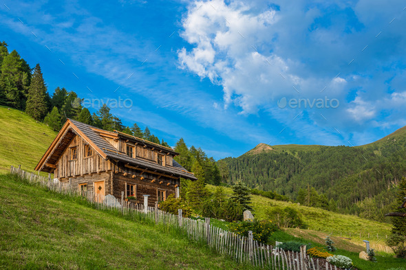 Old wooden hut cabin - Stock Photo - Images
