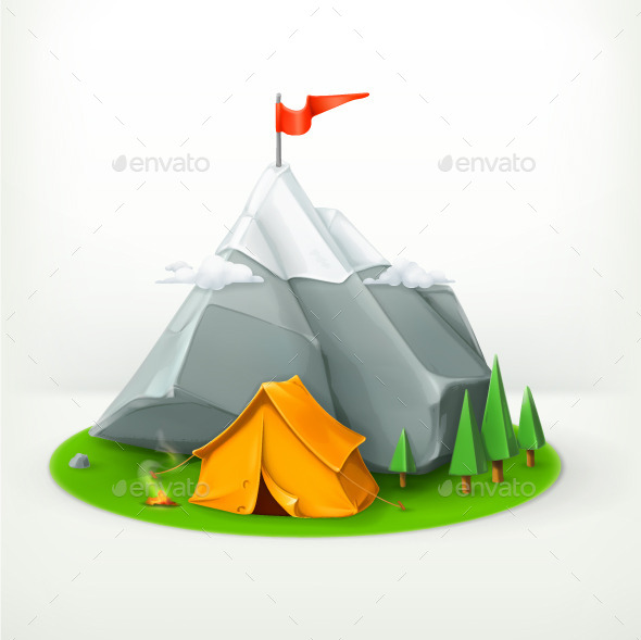 Journey to the Mountains Icon - Miscellaneous Vectors
