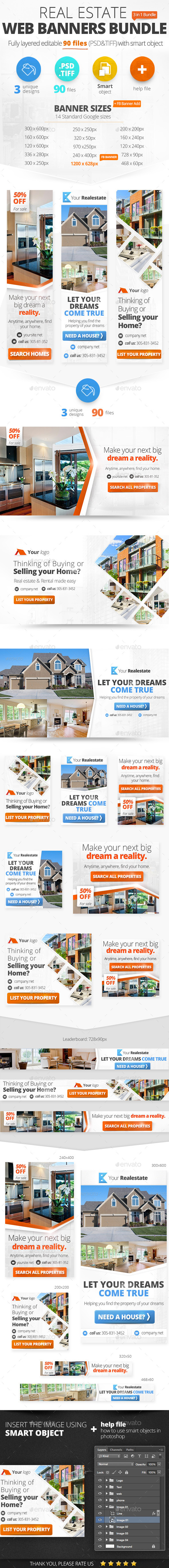 Real Estate Web Banners Bundle - Banners & Ads Web Elements