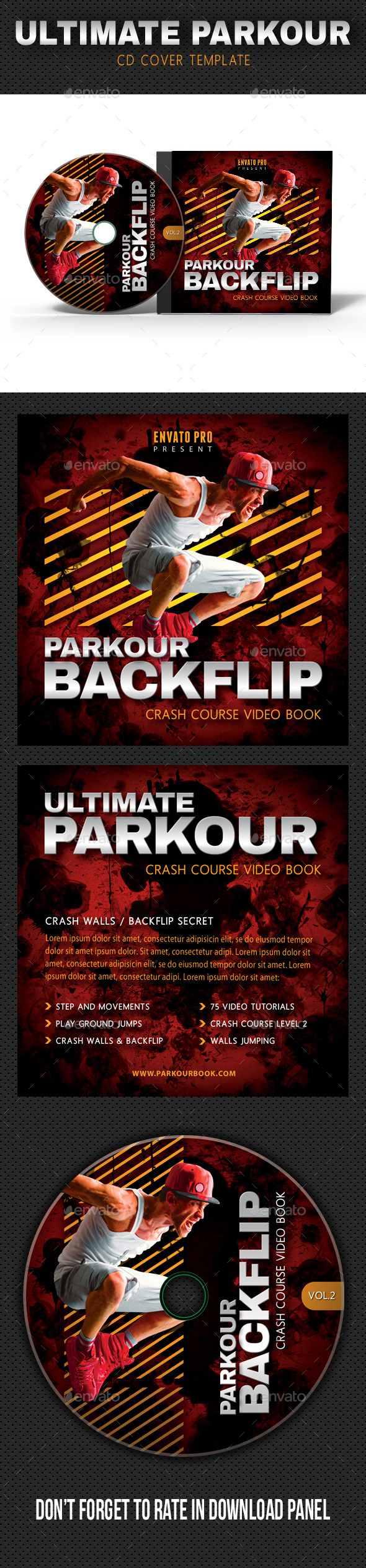 Ultimate Parkour CD Cover V2 - CD & DVD Artwork Print Templates