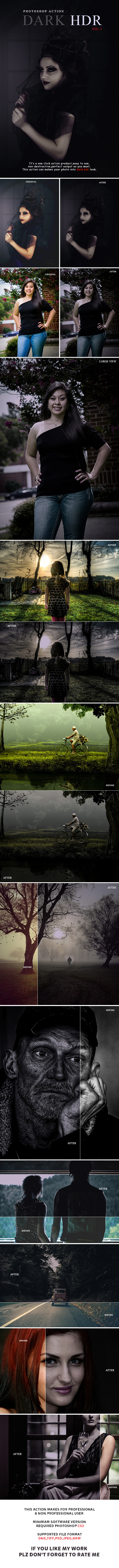 Dark Hdr Vol-2 Photoshop Action - Photo Effects Actions