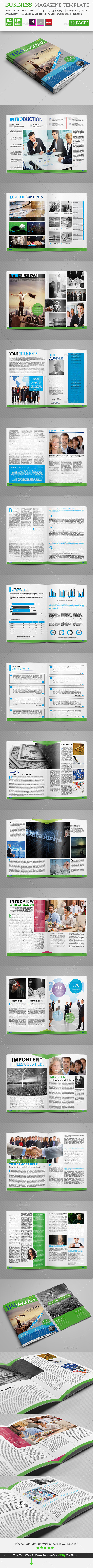 Business Magazine Template_34 Pages - Magazines Print Templates