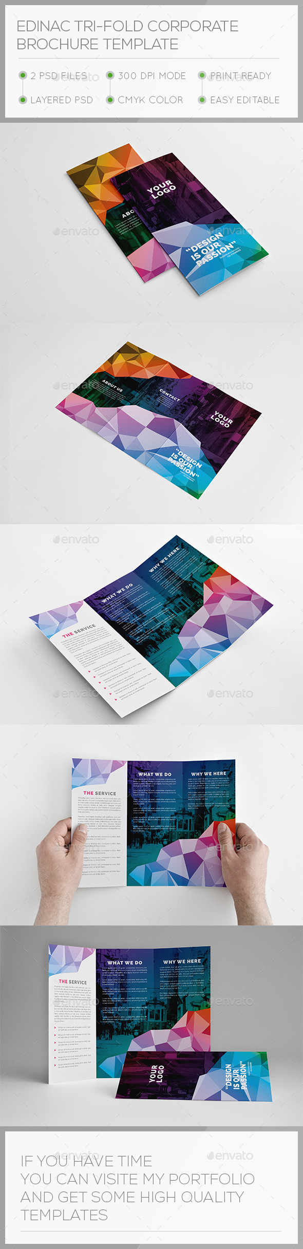Edinac Tri-fold Corporate Brochure Template