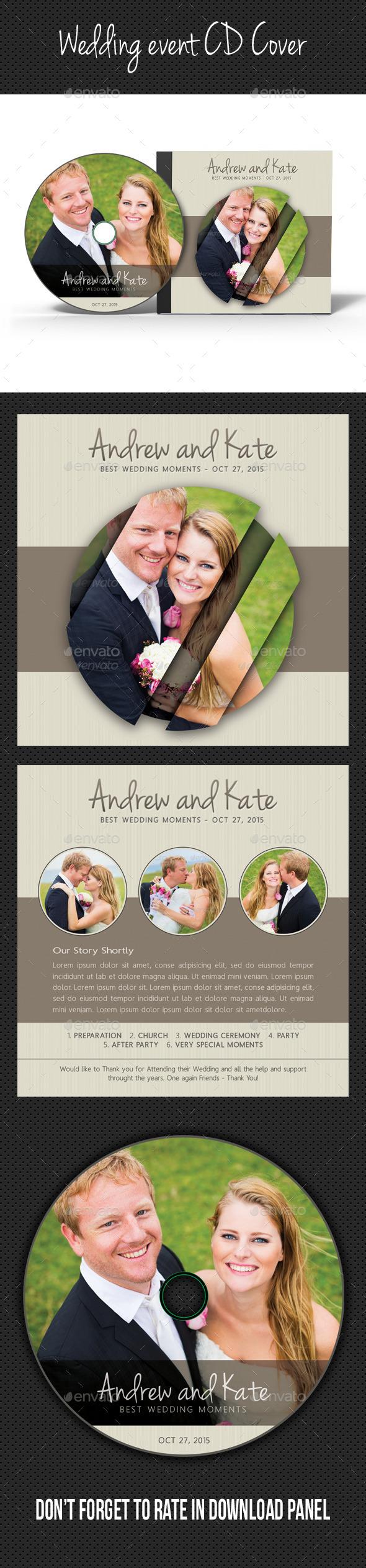 Wedding Event CD Cover V10 - CD & DVD Artwork Print Templates