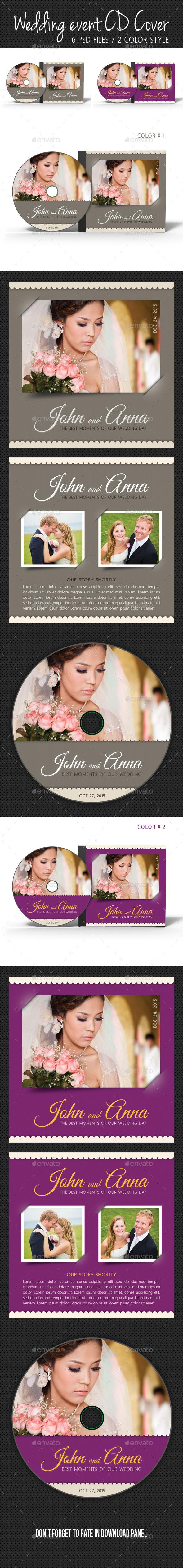 Wedding Event CD Cover V11 - CD & DVD Artwork Print Templates