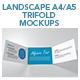 Landscape Trifold A4 & A5 Mockups - GraphicRiver Item for Sale