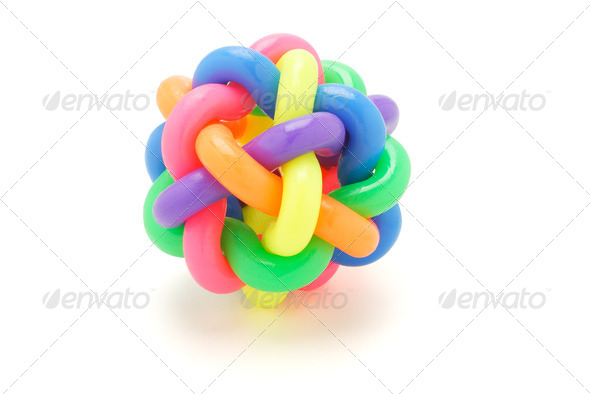 multicolor rings ball - Stock Photo - Images