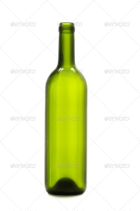 Empty wine bottle - Stock Photo - Images