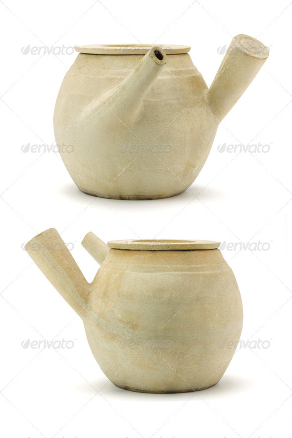 Chinese clay pots - Stock Photo - Images