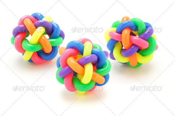 Colorful rubber rings balls - Stock Photo - Images