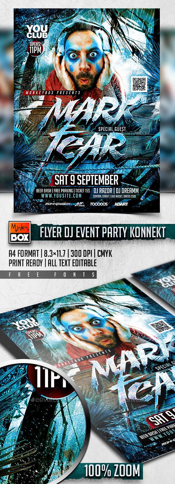 Flyer Dj Event Party Konnekt - Flyers Print Templates