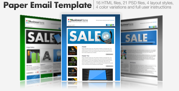 Free Download Paper Email Templates - 16 HTML Email Templates Nulled Latest Version