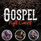 Gospel Night Concert Church Flyer - GraphicRiver Item for Sale