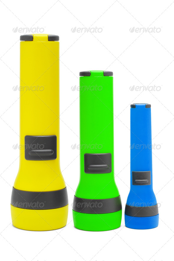 Three standing torchlights - Stock Photo - Images