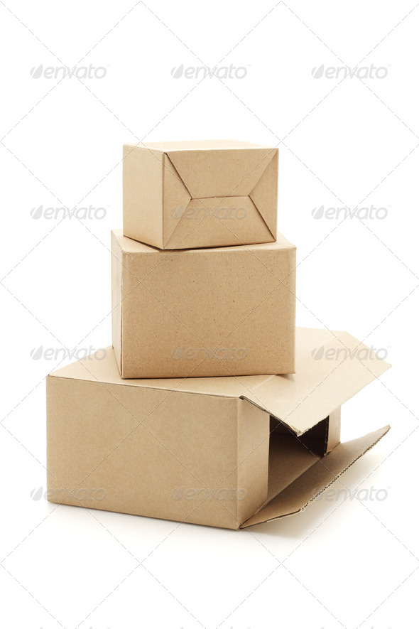 Carton boxes - Stock Photo - Images
