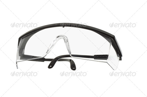 Plastic safety goggles - Stock Photo - Images