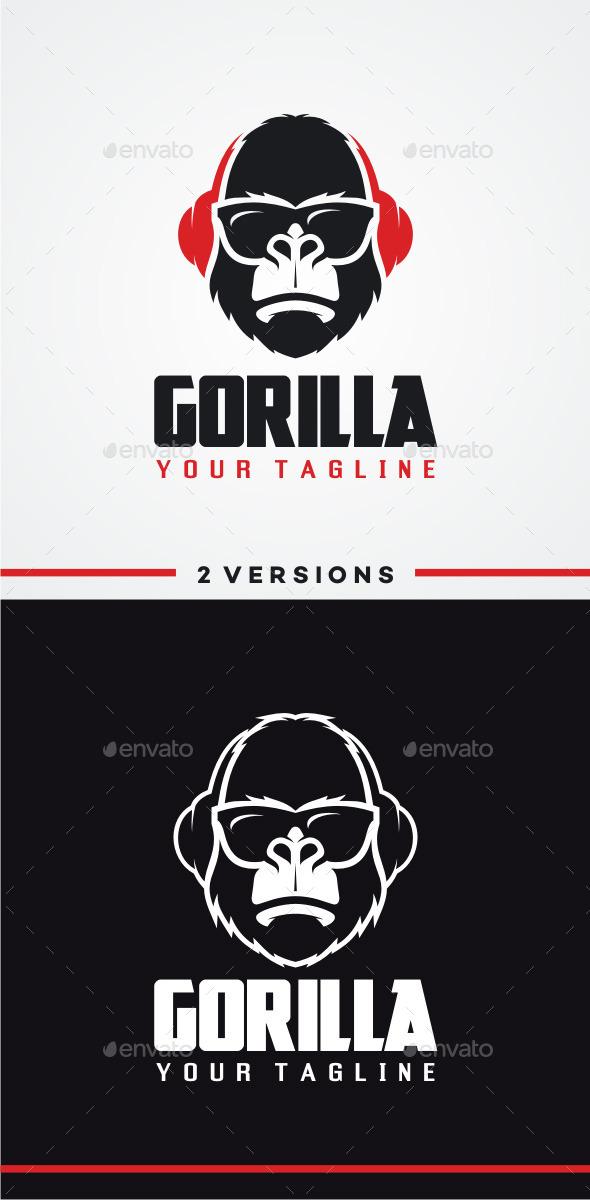 DJ Gorilla Logo - Animals Logo Templates
