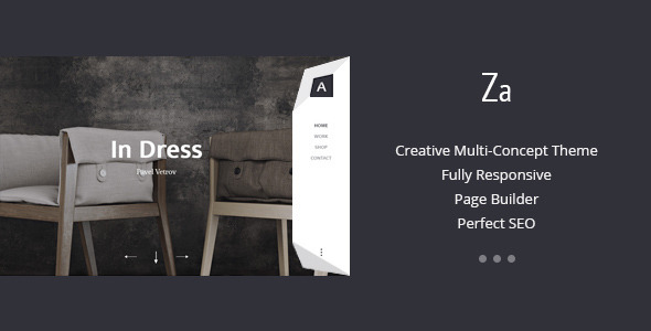 Za – Creative Fashion Portfolio WordPress Theme