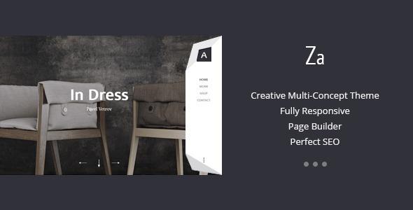 Za – Creative Fashion Portfolio WordPress Theme