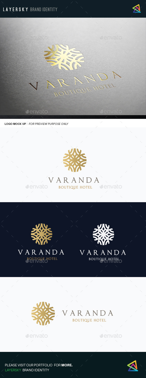 Boutique Hotel II  - Crests Logo Templates