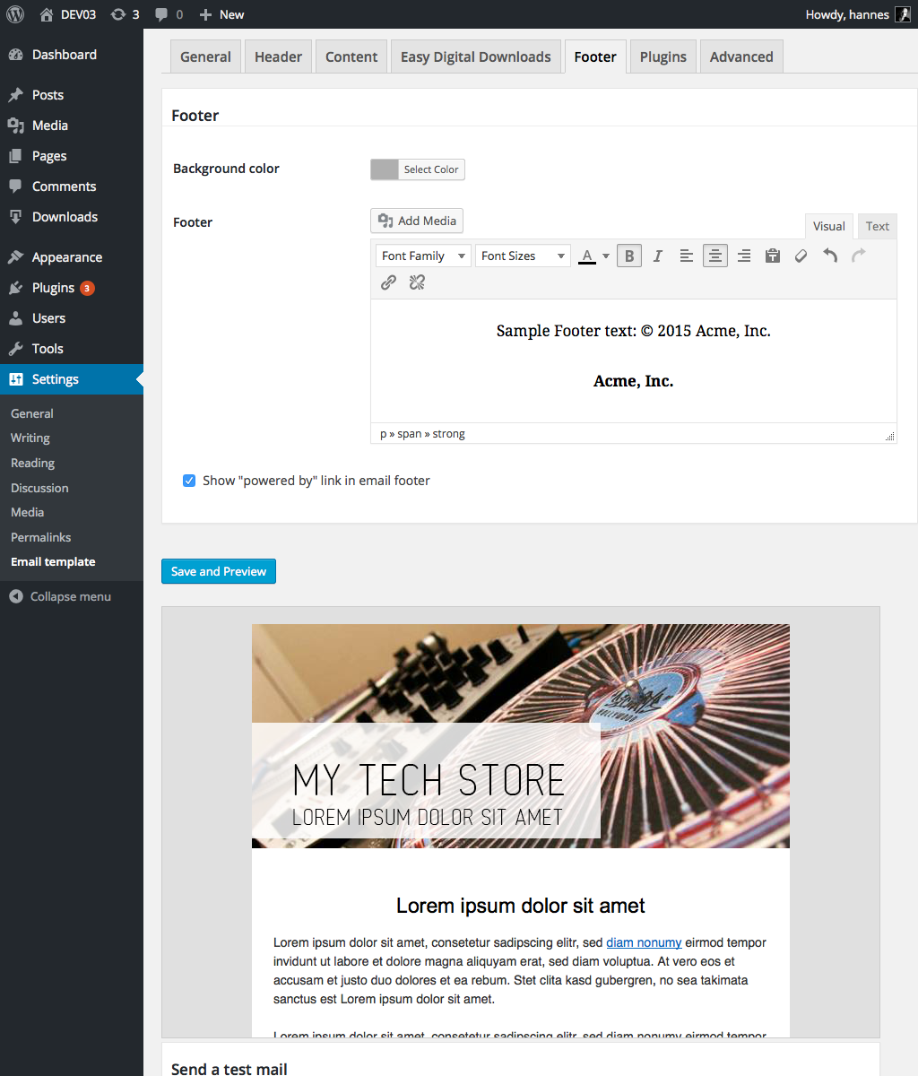 customized emails for easy digital downloads by haet dev codecanyon