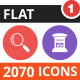 2070 Vector Colorful Round Flat Icons - GraphicRiver Item for Sale
