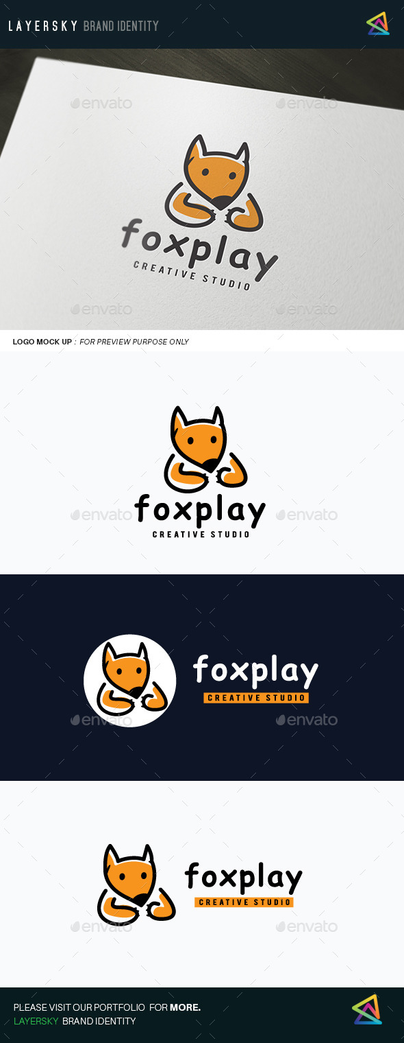 Fox Play - Animals Logo Templates