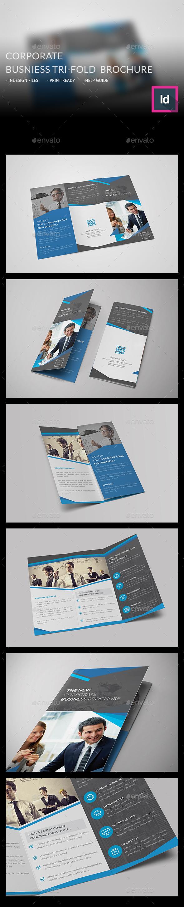 Corporate Business Tri-fold Brochure - Corporate Brochures