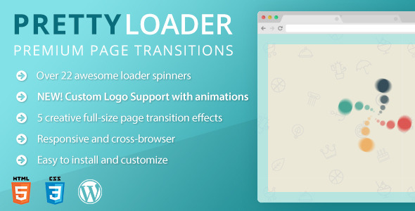 PrettyLoader - Flat Page Preloader for WordPress - CodeCanyon Item for Sale