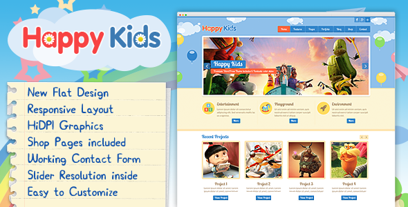 Happy Kids - Multipurpose HTML Template - Children Retail