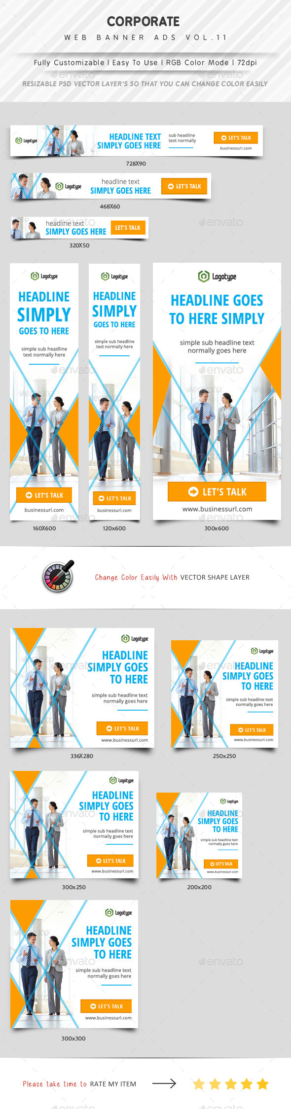 Corporate Web Banner Ads Vol.11 - Banners & Ads Web Elements