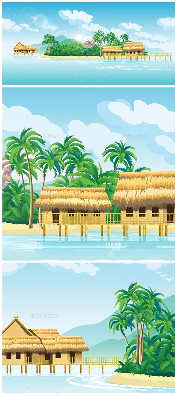 Paradise Islands - Travel Conceptual